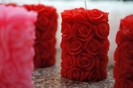 Rose Pillar Candles