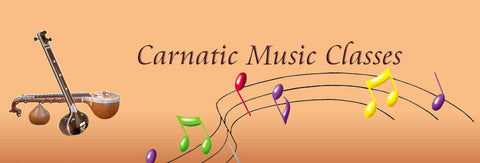 Carnatic Music - Western notation in 7 parts