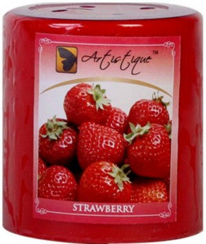 Strawberry Pillar Candles