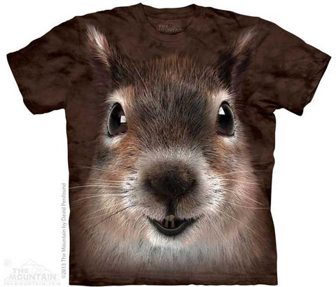 Squirrel Face Adult T Shirt