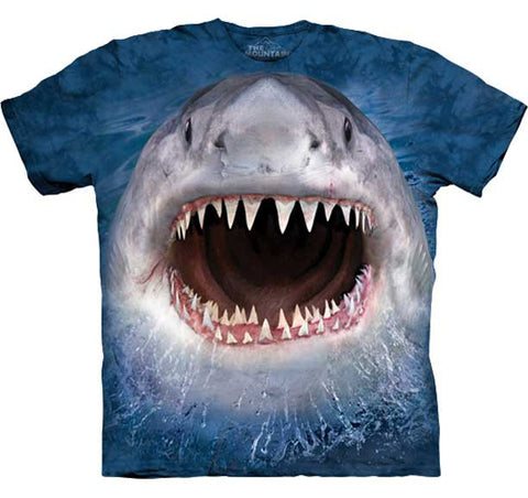 Shark Bite Adult T Shirt
