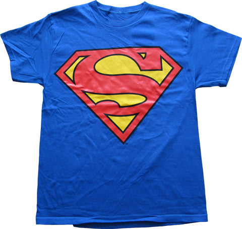 Superman Logo Adult T Shirt