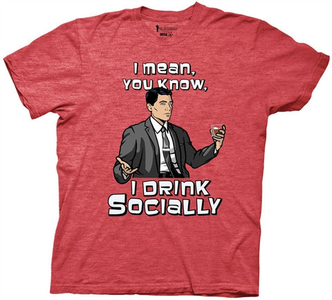 Archer Social Drinker Adult T Shirt