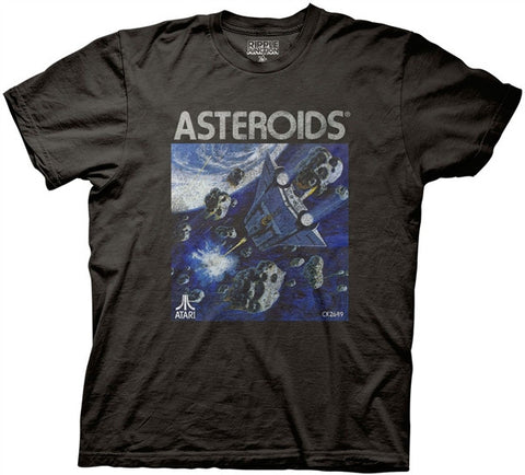 Asteroids Box Art Adult T Shirt