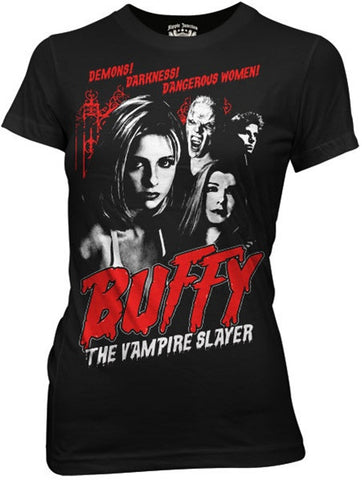 Buffy Cult Poster Womens Fitted Tee