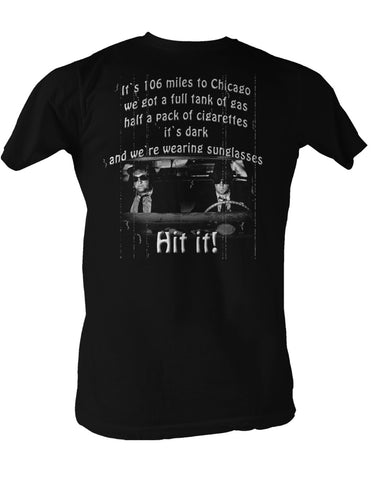 Blues Brothers 106 Miles Adult T Shirt