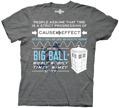 Wibbly Wobbly Quote Adult T Shirt