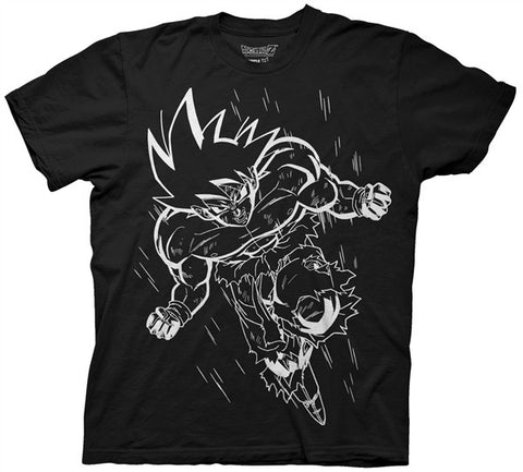 White Line Goku Adult T Shirt