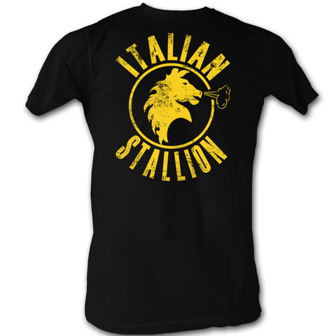 Italian Stallion Black Adult T Shirt