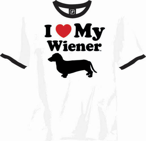 I Heart My Wiener Adult T Shirt