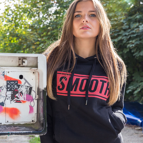 Hoodie Black / Red Women