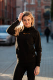 Hoodie Black & Gold Capital Women