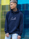 Navy Hoodie / Signature White Men
