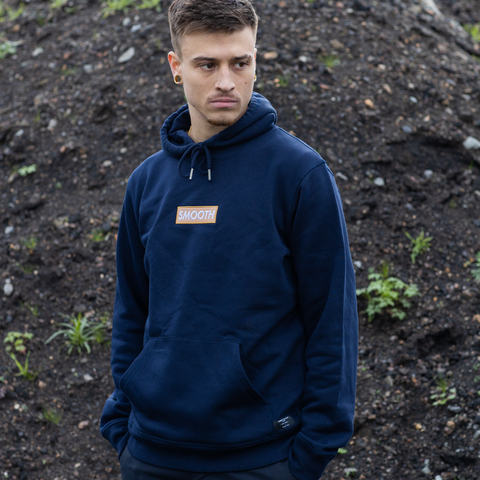 Navy Hoodie / Ochreous Box Men