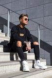 Crewneck Black & Gold Box Men