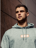 Grey Hoodie / Ochreous Box Men