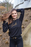 Crewneck Black & Gold Signature Women