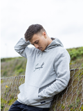 Grey Hoodie / Signature Black Men
