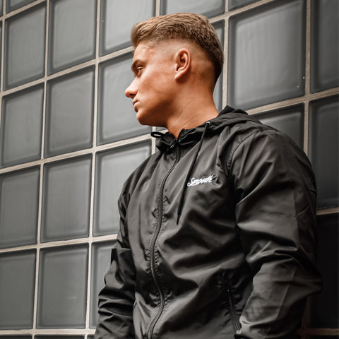 Black Windbreaker / Originals Minimal White Men