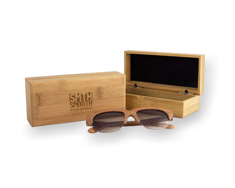 Wooden sunglasses case