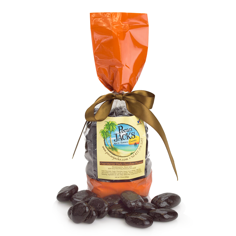 Dark Chocolate Gran Marnier Pecans - 10 oz.