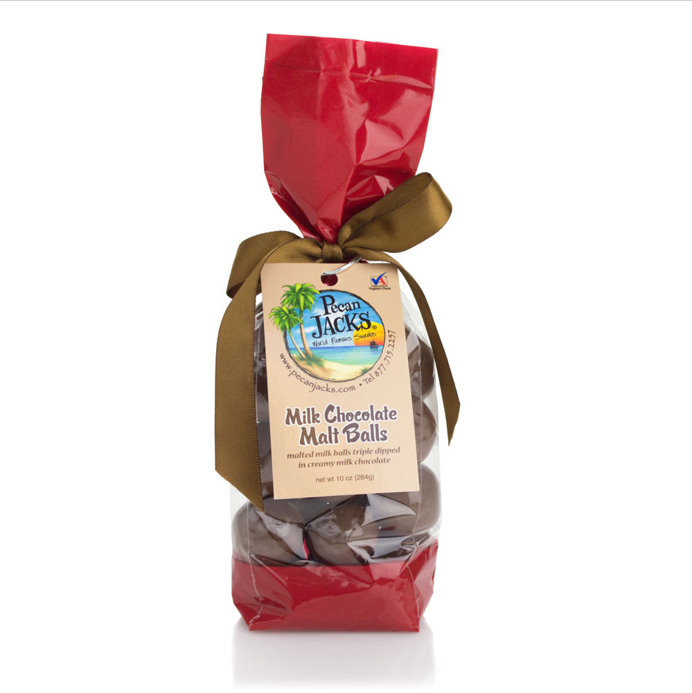 Milk Chocolate Malt Balls 10oz | Pecan Jacks