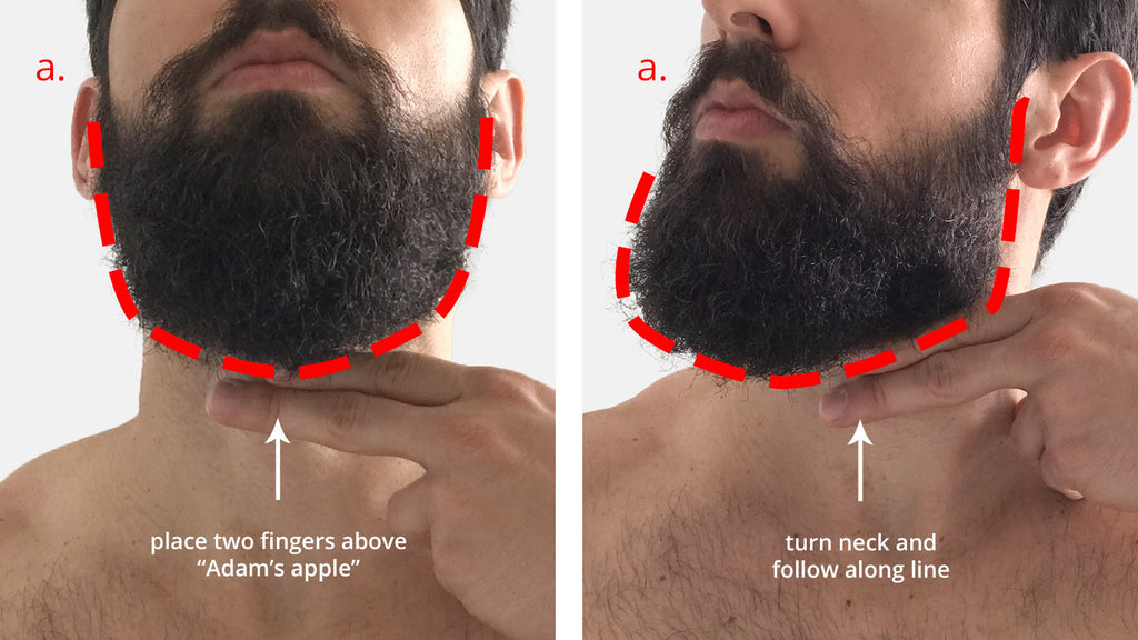 how to trim your beard neckline beard king. Black Bedroom Furniture Sets. Home Design Ideas