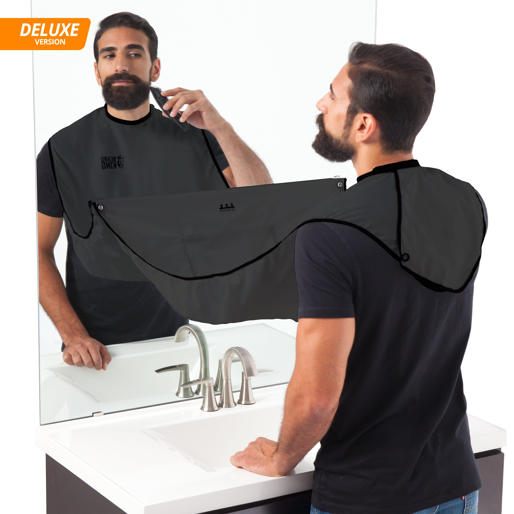 1x Waterproof Man Cleaning Bathroom Beard Apron Trimmer Hair Catcher Shave Apron