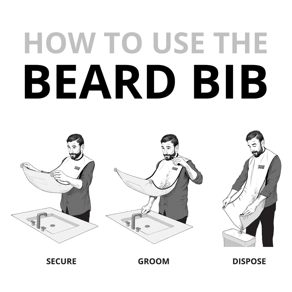 Beard Bib - Black (Deluxe Version)