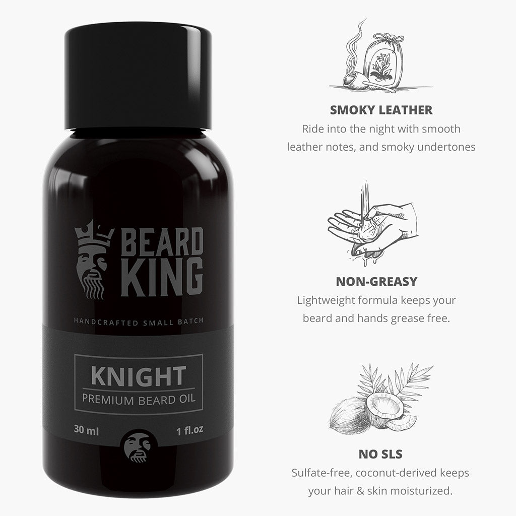 Beard Oil - Knight - BEARD KING - 3