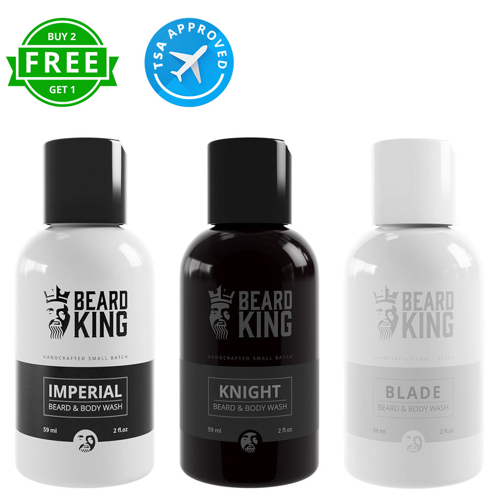 Beard Wash Travel Set (2oz) - 3 Kings