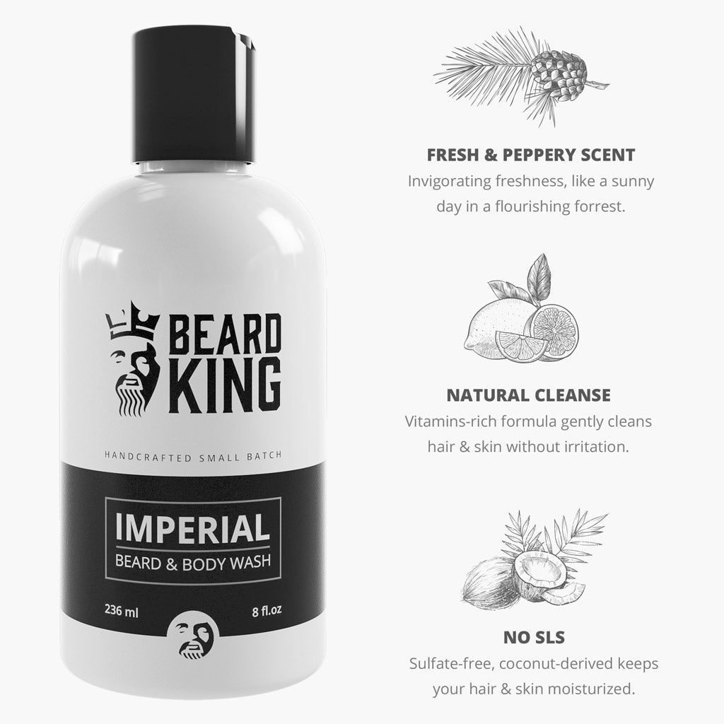Beard & Body Wash - Imperial - BEARD KING - 3
