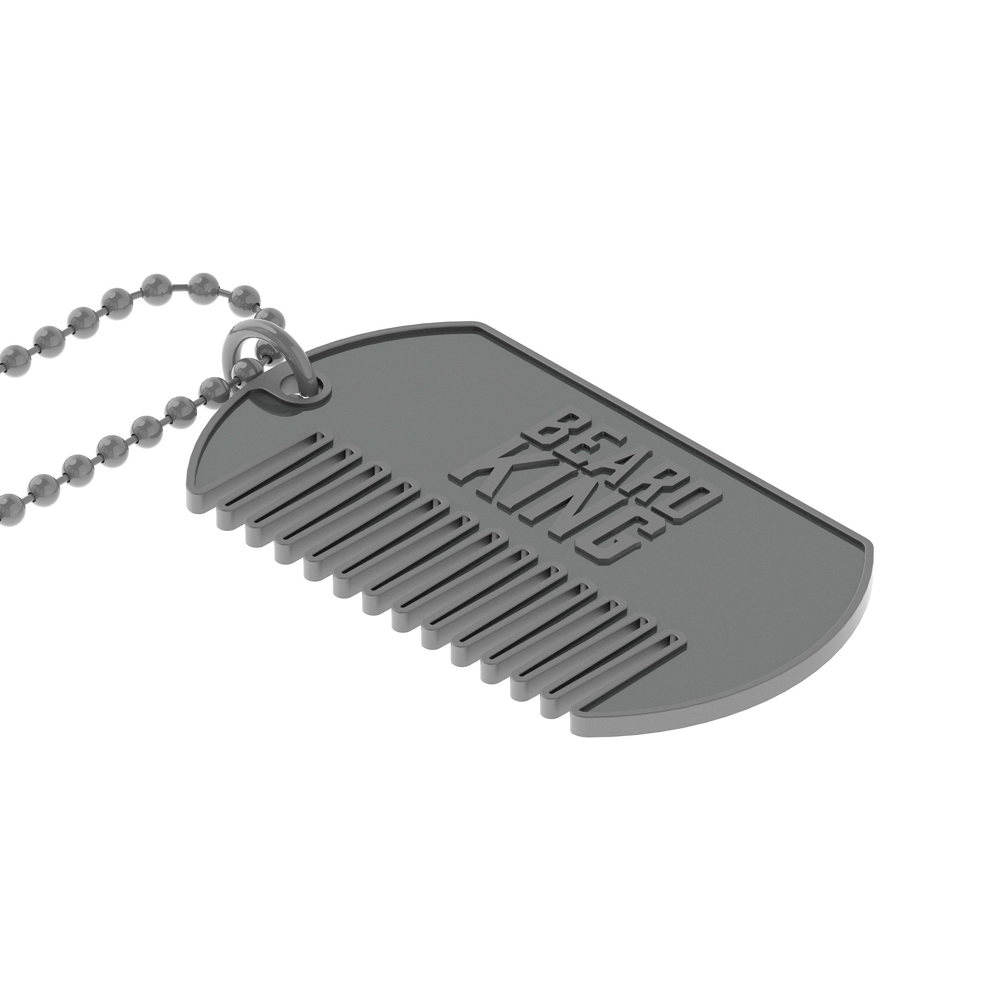 King Comb Silver - Dog Tag