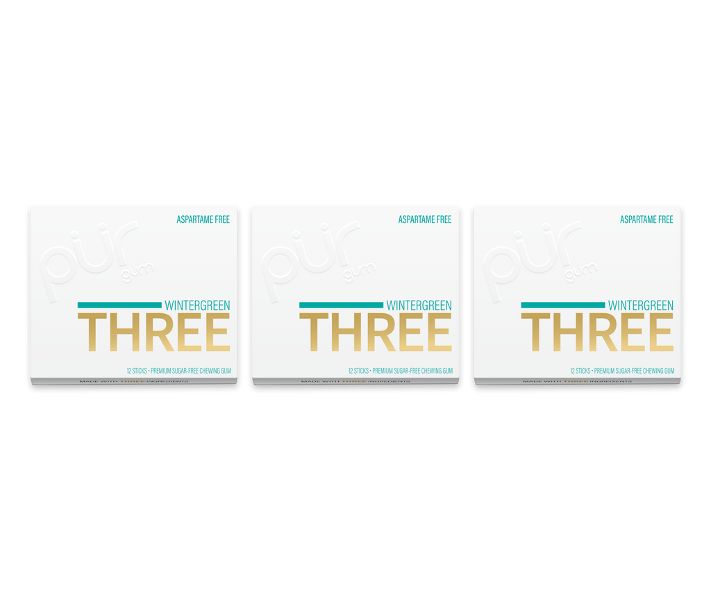 THREE STICK GUM- 3 Pack Bundle! - The PUR Company