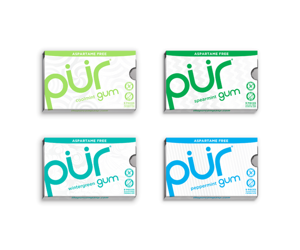 4 Gum Pack Variety (Mint Flavours)