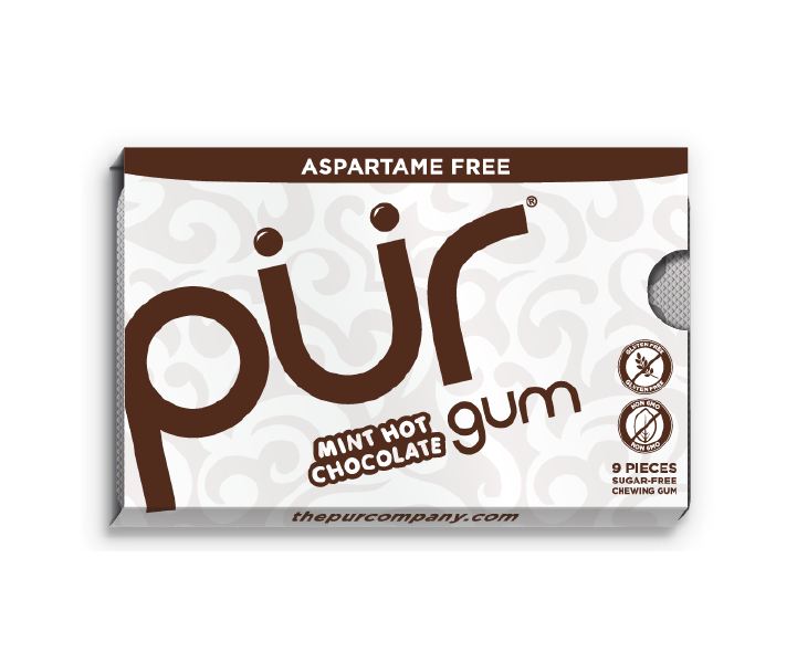 Mint Hot Chocolate Gum Pack (9 Pieces)