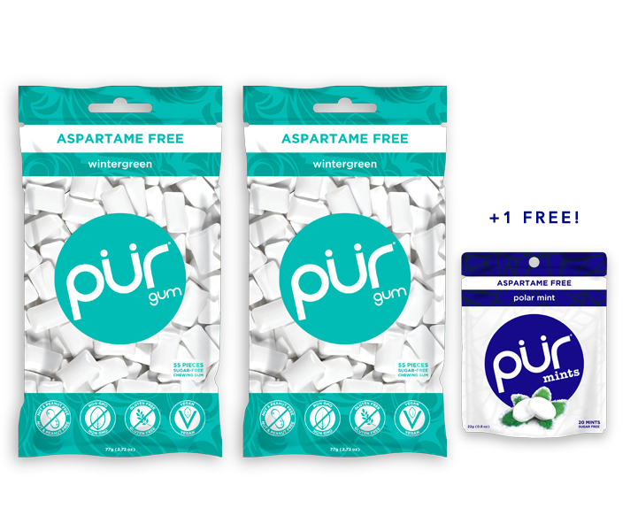 Buy 2 Gum Bags, Get 1 Mint Pouch FREE (130 Pieces)