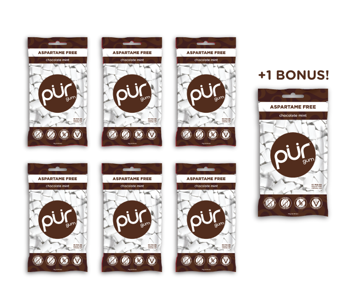Buy 6 Gum Bags, Get 1 FREE (385 Pieces)