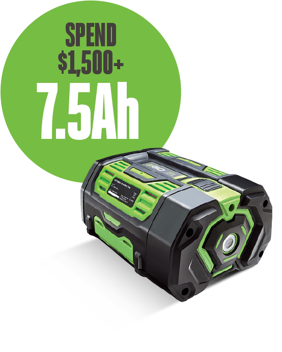 Spend $1,500+, receive a 7.5Ah battery