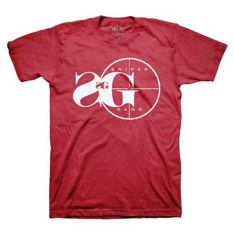 T-SHIRT SNIPER GANG LOGO RED