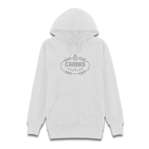 Barded Gothic Crooks Hoodie White