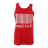 Camisole Code Barre Rouge