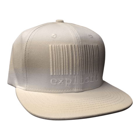 Casquette explicit white on white