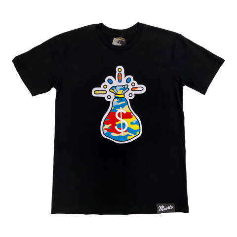 T-shirt Hasta Muerte Camo Money chenille patck black