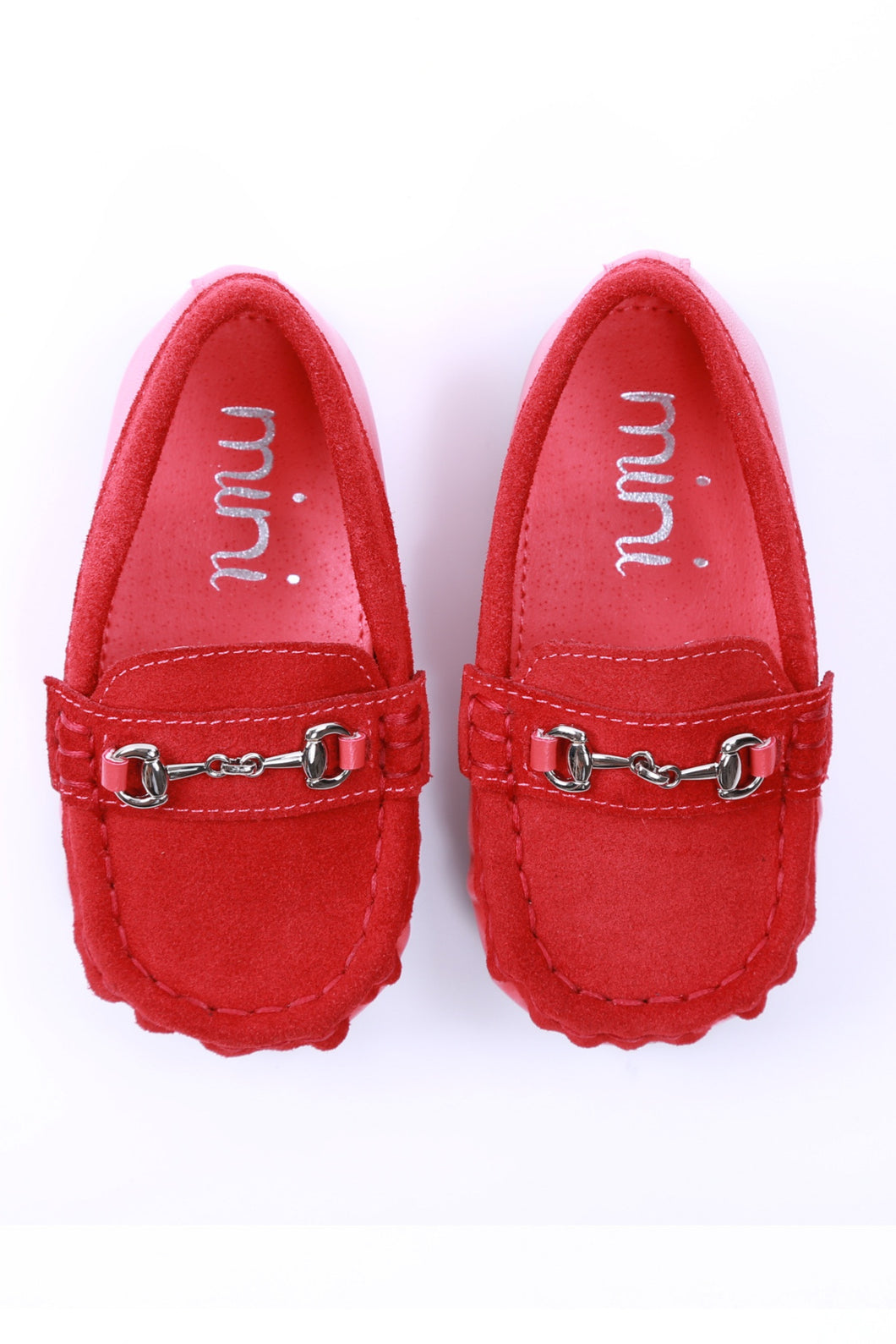 Mateo Loafer Genuine Suede Calf Leather - Red