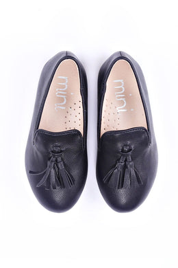 Ollie Black Loafer Slipper (Boy)