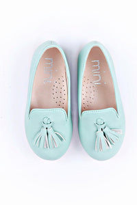 Ollie Turquoise Loafer Slipper (Girl)