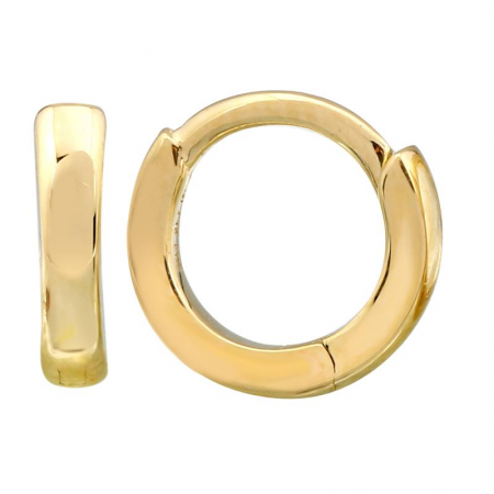 14k gold 7mm huggies - SINGLE