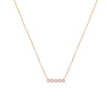 14k bezel set bar necklace