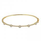 14k gold diamond bezel bangle